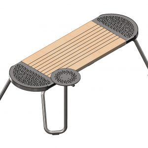 ספסל Tubes שולחן יחיד 8016002