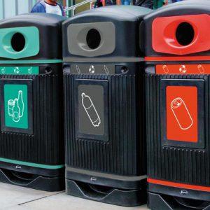 פח מחזור בקבוקי פלסטיק  ™Glasdon Jubilee